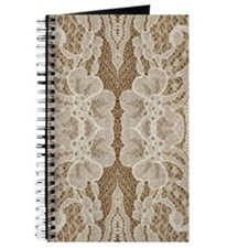 shabby chic burlap lace Journal