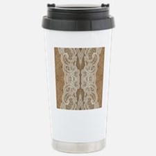 shabby chic burlap lace Travel Mug