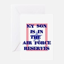 My son is in the Air Force Re Greeting Card