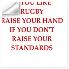 rugby joke Wall Decal