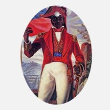 Toussaint Louverture Oval Ornament