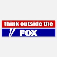 Think Outside The FOX Bumper Car Car Sticker