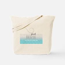 Funny Breathe Tote Bag