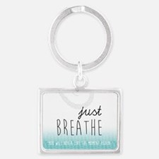 Cute Inspirational quotes Landscape Keychain