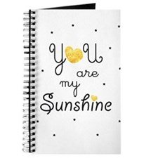 You are my sunshine - gold Journal