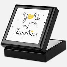You are my sunshine - gold Keepsake Box