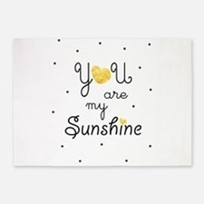 You are my sunshine - gold 5'x7'Area Rug