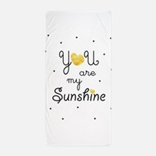 You are my sunshine - gold Beach Towel