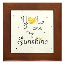 You are my sunshine - gold Framed Tile