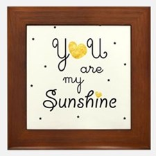 You are my sunshine - gold Framed Tile