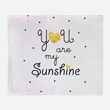 You are my sunshine - gold Throw Blanket