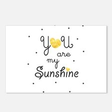 You are my sunshine - gol Postcards (Package of 8)