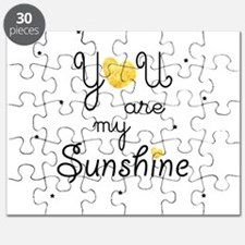 You are my sunshine - gold Puzzle