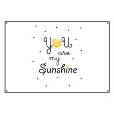 You are my sunshine - gold Banner