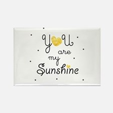 You are my sunshine - gold Magnets