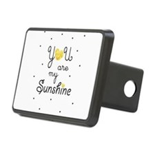 You are my sunshine - gold Hitch Cover