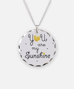 You are my sunshine - gold Necklace