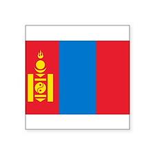 """Cute Mongolia Square Sticker 3"""" x 3"""""""