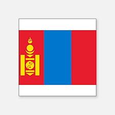 "Cute Mongolia flag Square Sticker 3"" x 3"""
