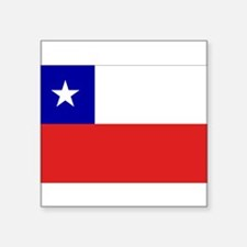 "Cute Flags chilean Square Sticker 3"" x 3"""