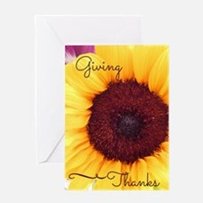 Giving Thanks- Sunflower Card (1 Greeting Cards