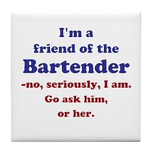 Bartenders Friend Tile Coaster
