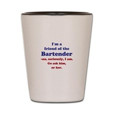 Bartenders Friend Shot Glass
