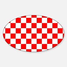 Cute Croatian Sticker (Oval)