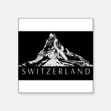 "Cute Logo in white Square Sticker 3"" x 3"""