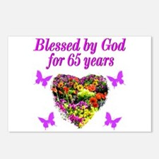 BLESSED 65TH Postcards (Package of 8)