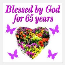 BLESSED 65TH Invitations