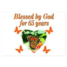 BLESSED 65TH 3.5 x 5 Flat Cards
