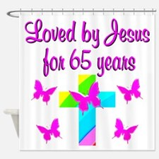 BLESSED 65TH Shower Curtain