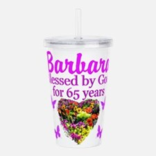 BLESSED 65TH Acrylic Double-wall Tumbler