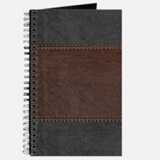 Brow And Black Vintage Leather Look Journal