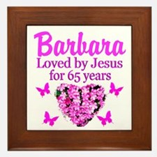 BLESSED 65TH Framed Tile