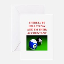 billiards joke Greeting Cards