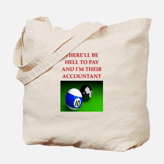 billiards joke Tote Bag