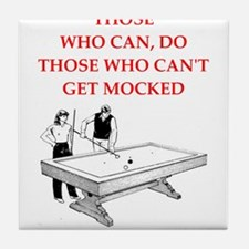 billiards joke Tile Coaster