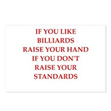 billiards joke Postcards (Package of 8)