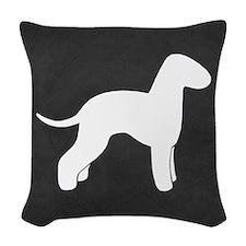 Bedlington Terrier Silhouette Woven Throw Pillow