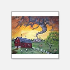 "Cute Tornadoes Square Sticker 3"" x 3"""