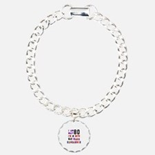 80 Birthday Designs Bracelet