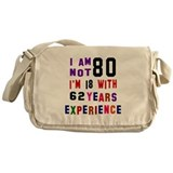 80th birthday Messenger Bag