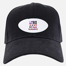 80 Birthday Designs Baseball Hat