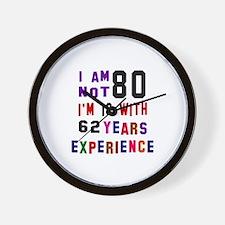 80 Birthday Designs Wall Clock