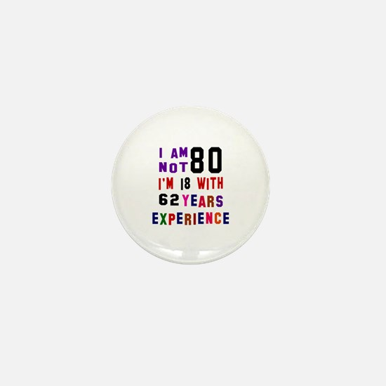 80 Birthday Designs Mini Button