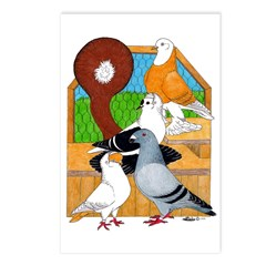 Five Pigeons Postcards (Package of 8)