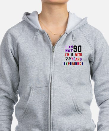 90 Birthday Designs Zip Hoodie