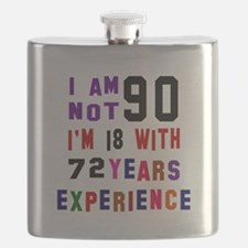 90 Birthday Designs Flask